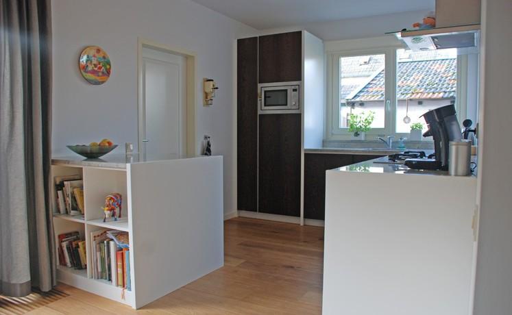 Keuken wénge met natuursteen blad