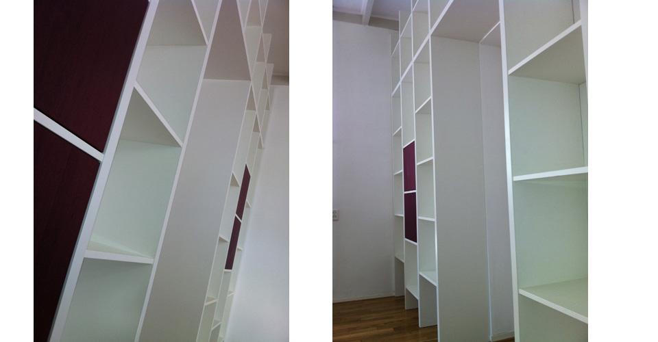 HPL boekenkast met purperhart